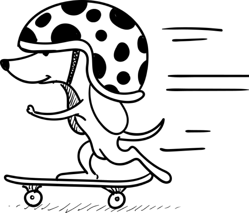 Watch Your Pet Skate On By